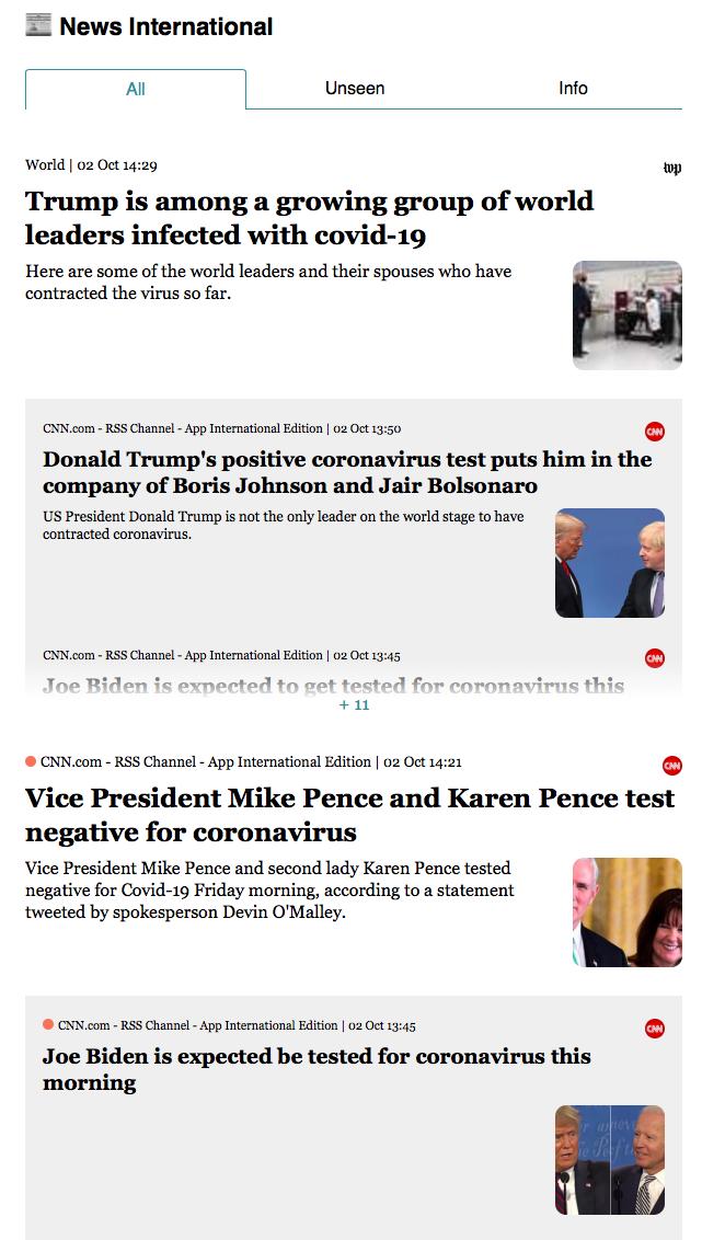News international page