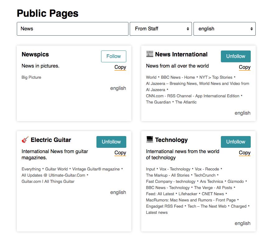Public pages